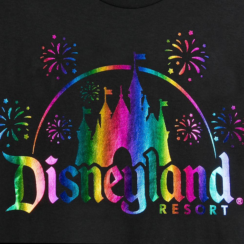 Disneyland Logo Rainbow Foil T-Shirt for Adults