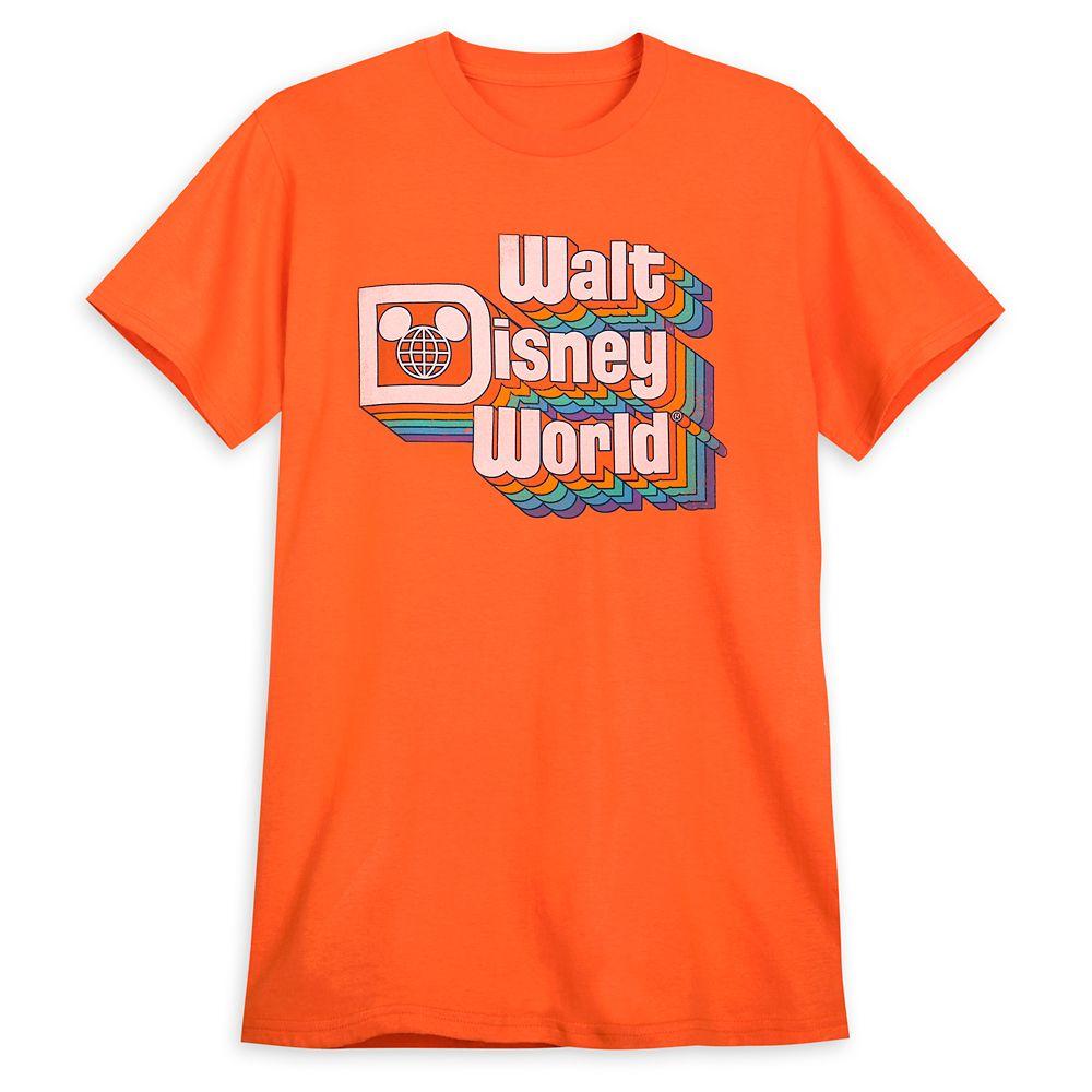 Walt Disney World Stacked Logo T-Shirt for Adults – Orange