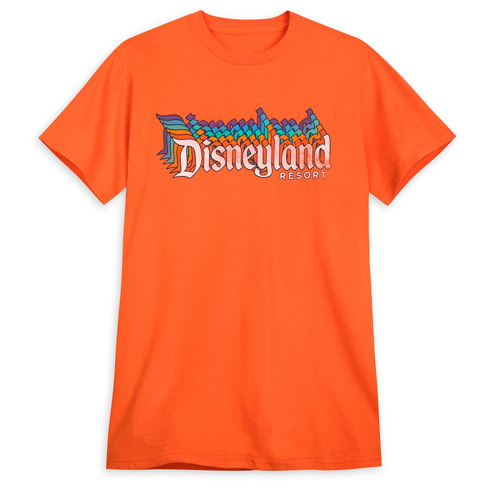 Disneyland Stacked Logo T-Shirt for Adults – Orange