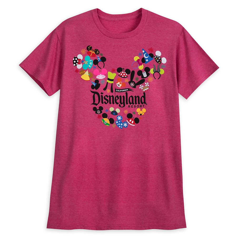 Ear Hat Collage T-Shirt for Adults – Disneyland