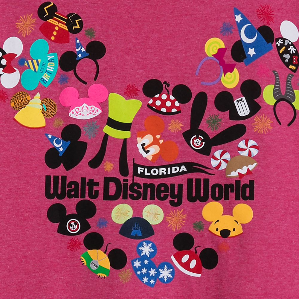 Ear Hat Collage T-Shirt for Adults – Walt Disney World