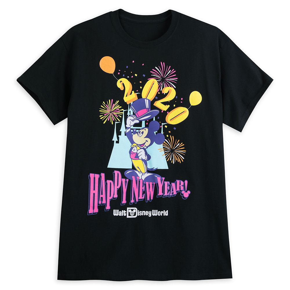 Mickey Mouse Happy New Year T-Shirt for Adults – Walt Disney World 2020