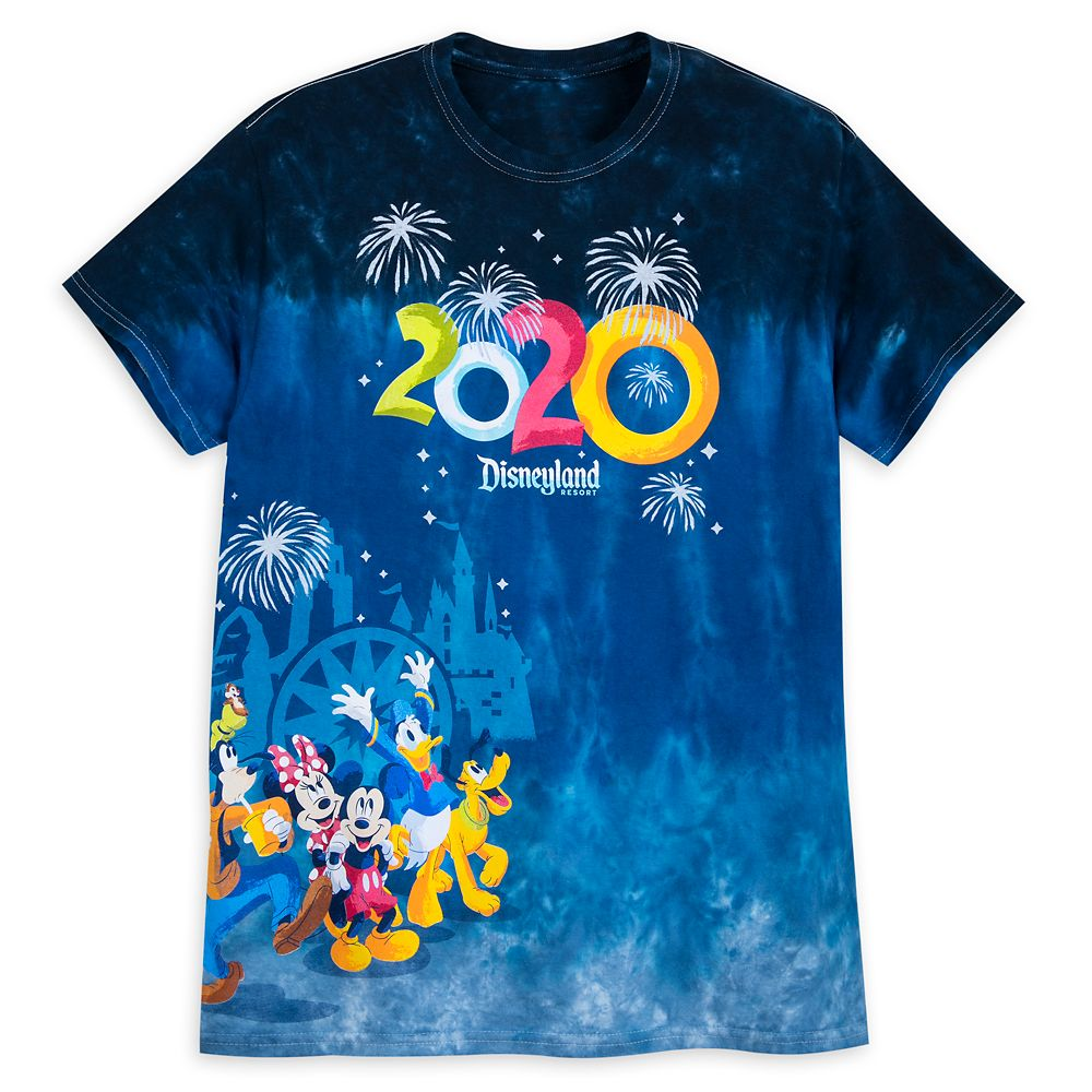 Mickey Mouse and Friends Dip Dye T-Shirt for Adults – Disneyland 2020