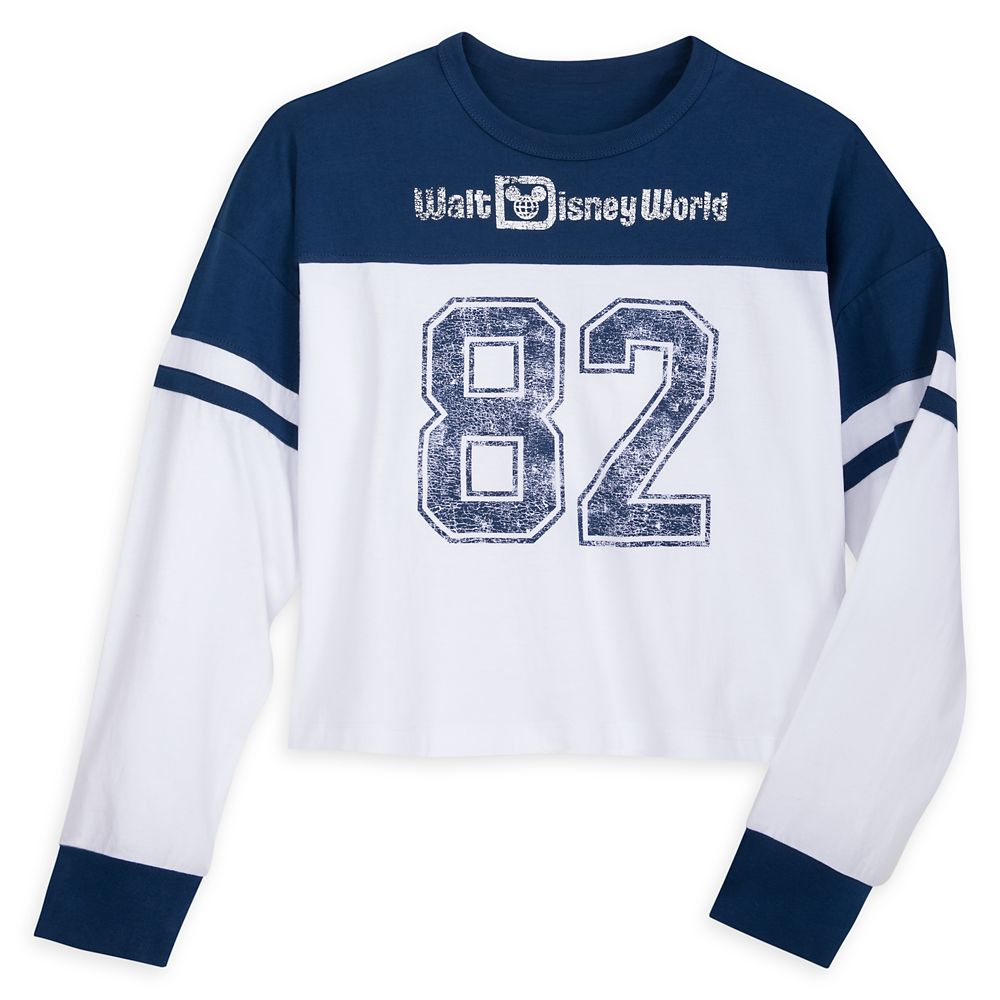 Walt Disney World Cropped Football Jersey Top for Women