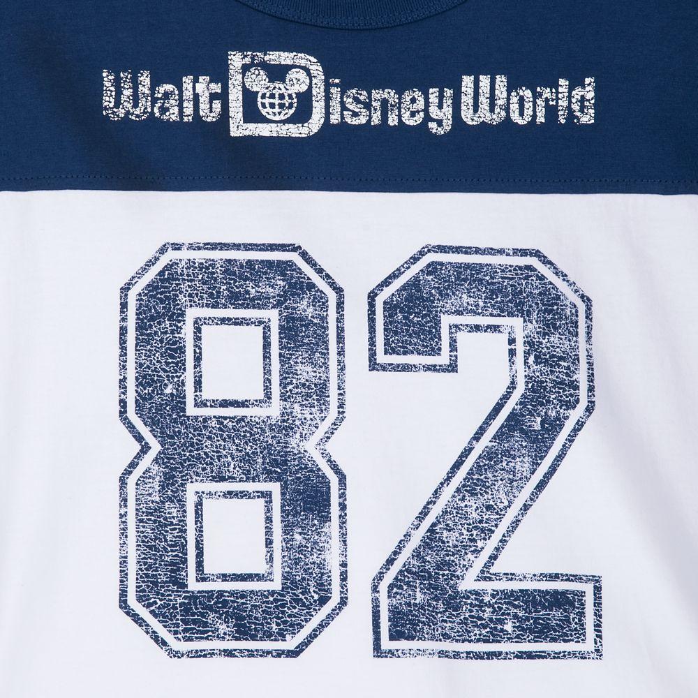 Walt Disney World Cropped Football Jersey Top for Women