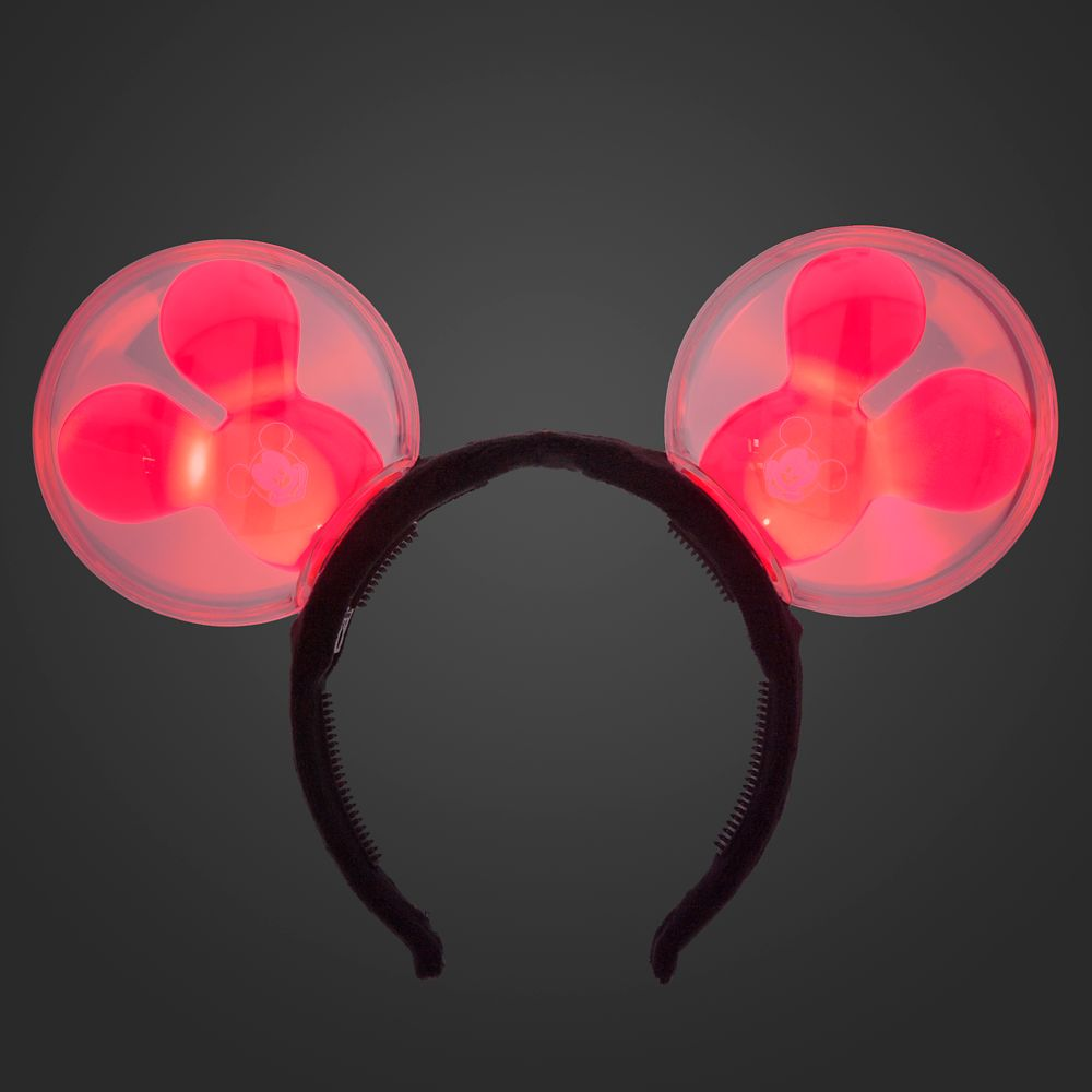 Mickey Mouse Balloon Light-Up Ears Headband for Adults