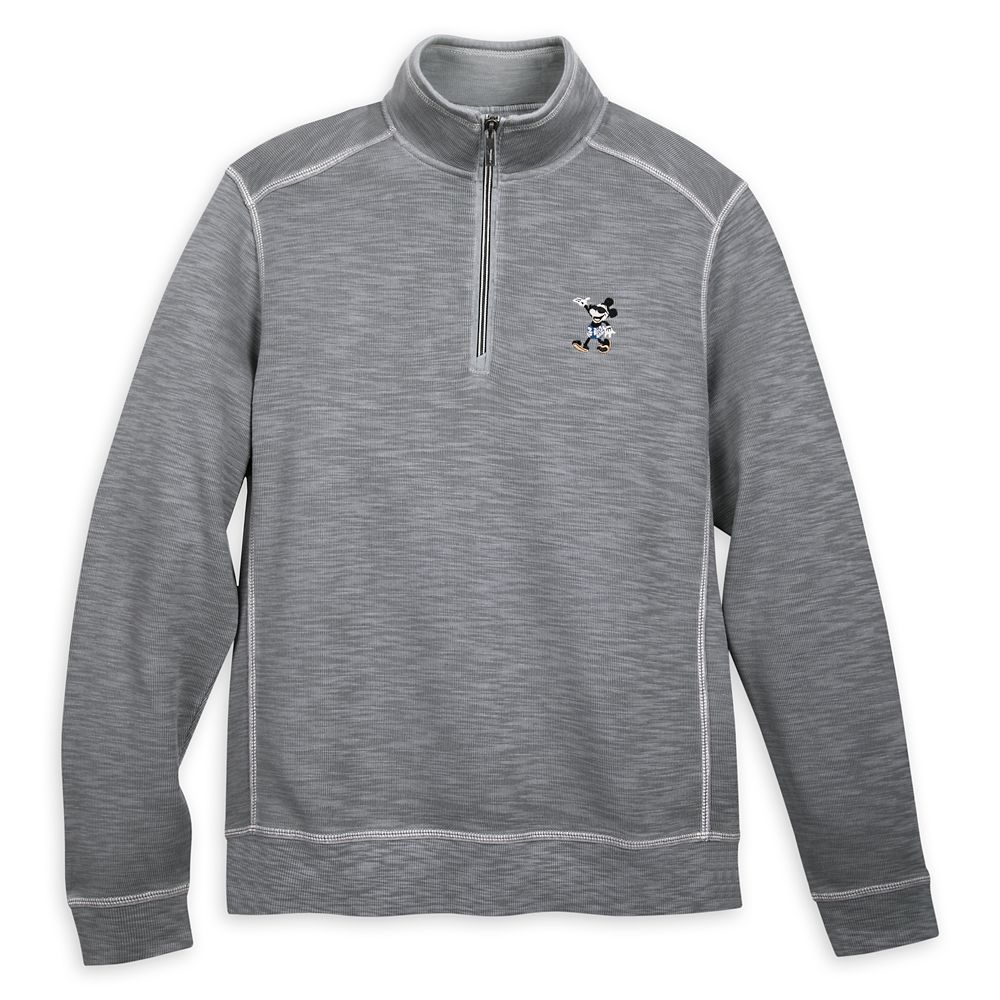 Mickey Mouse Long Sleeve Pullover for Men by Tommy Bahama – Gray
