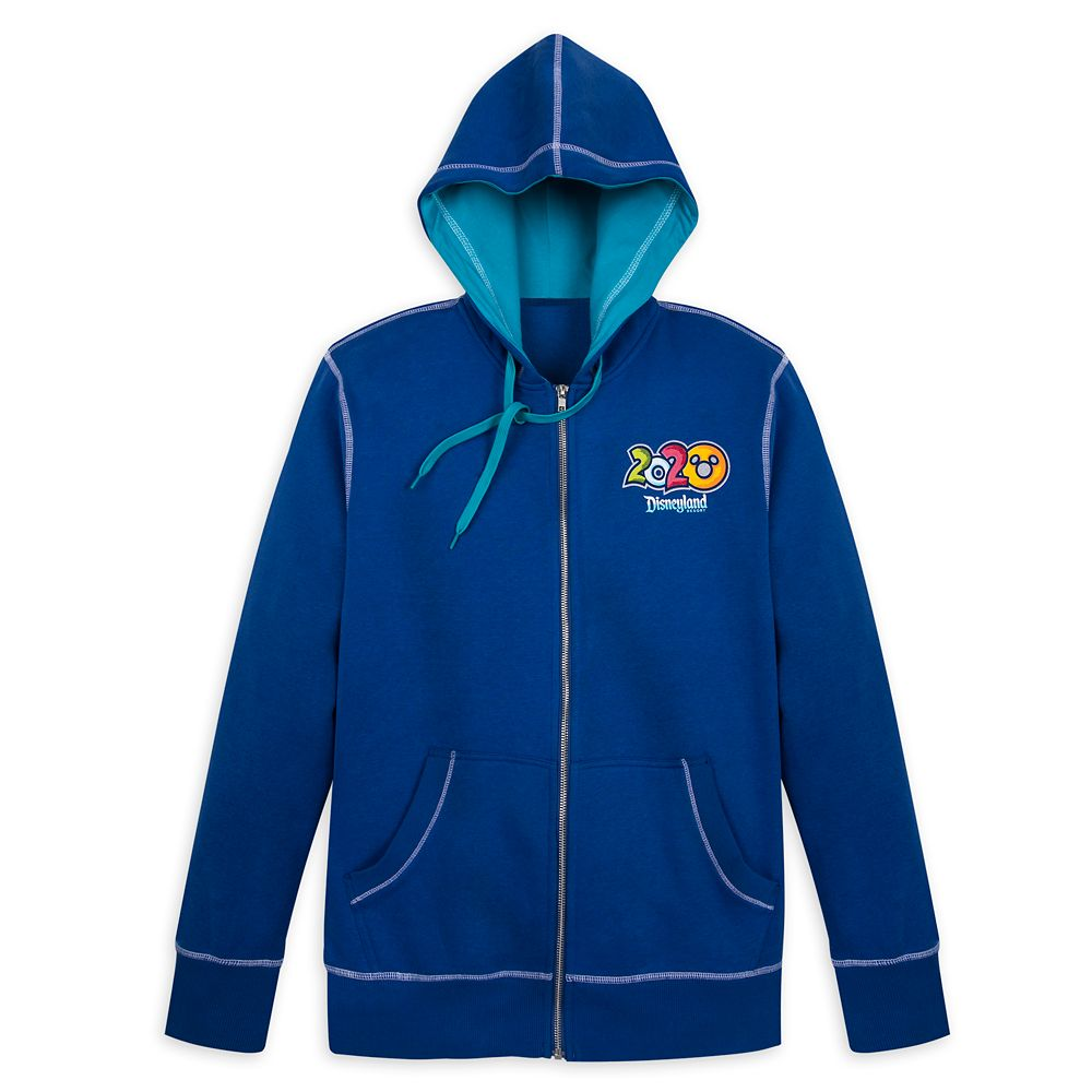 Mickey Mouse and Friends Zip-Up Hoodie for Men – Disneyland 2020