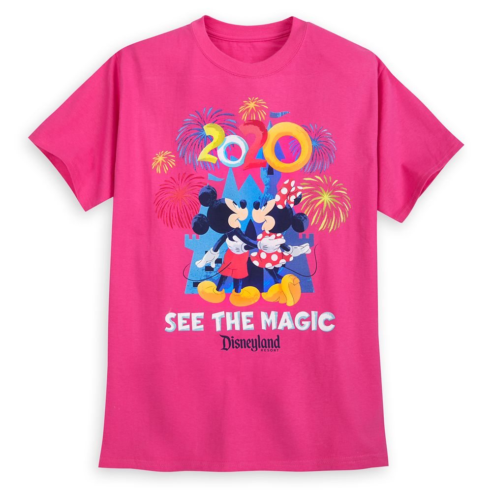 Mickey and Minnie Mouse T-Shirt for Adults – Disneyland 2020