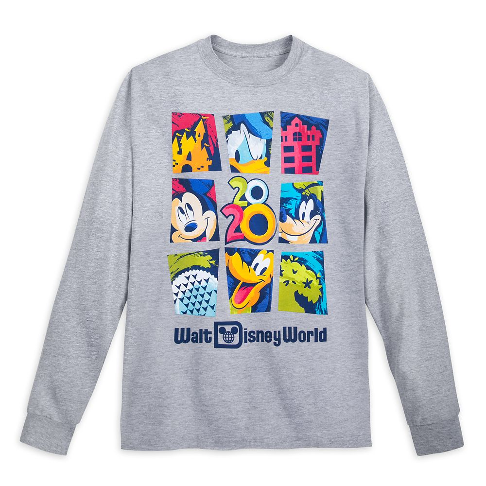 Mickey Mouse and Friends Long Sleeve T-Shirt for Adults – Walt Disney World 2020