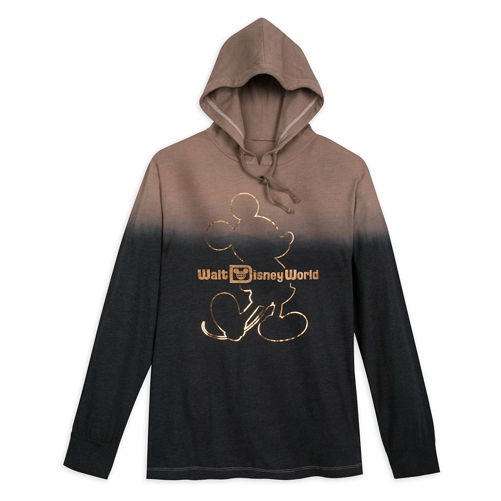 Mickey Mouse Hooded Long Sleeve T-Shirt for Men – Walt Disney World – Belle Bronze