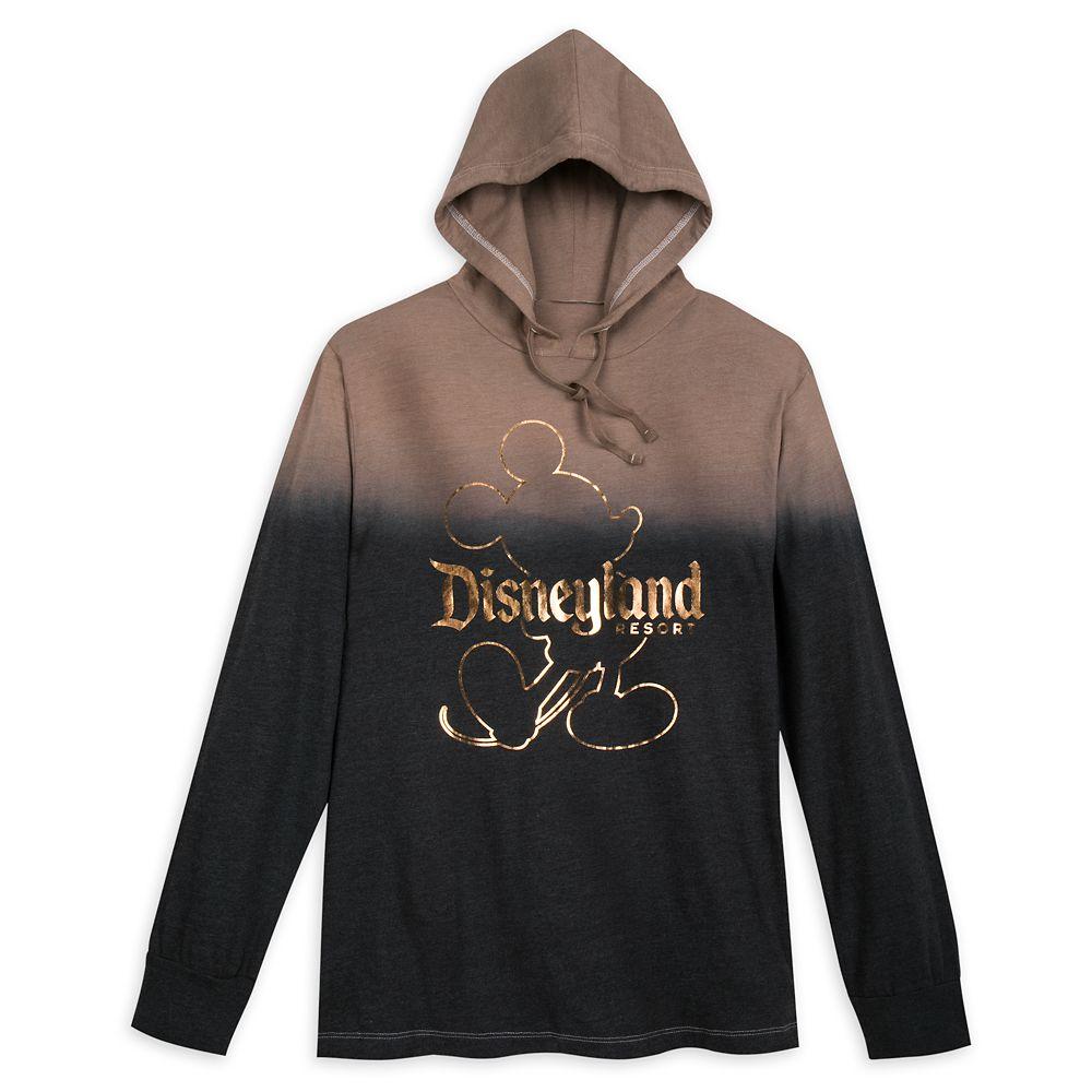 Mickey Mouse Hooded Long Sleeve T-Shirt for Men – Disneyland – Belle Bronze