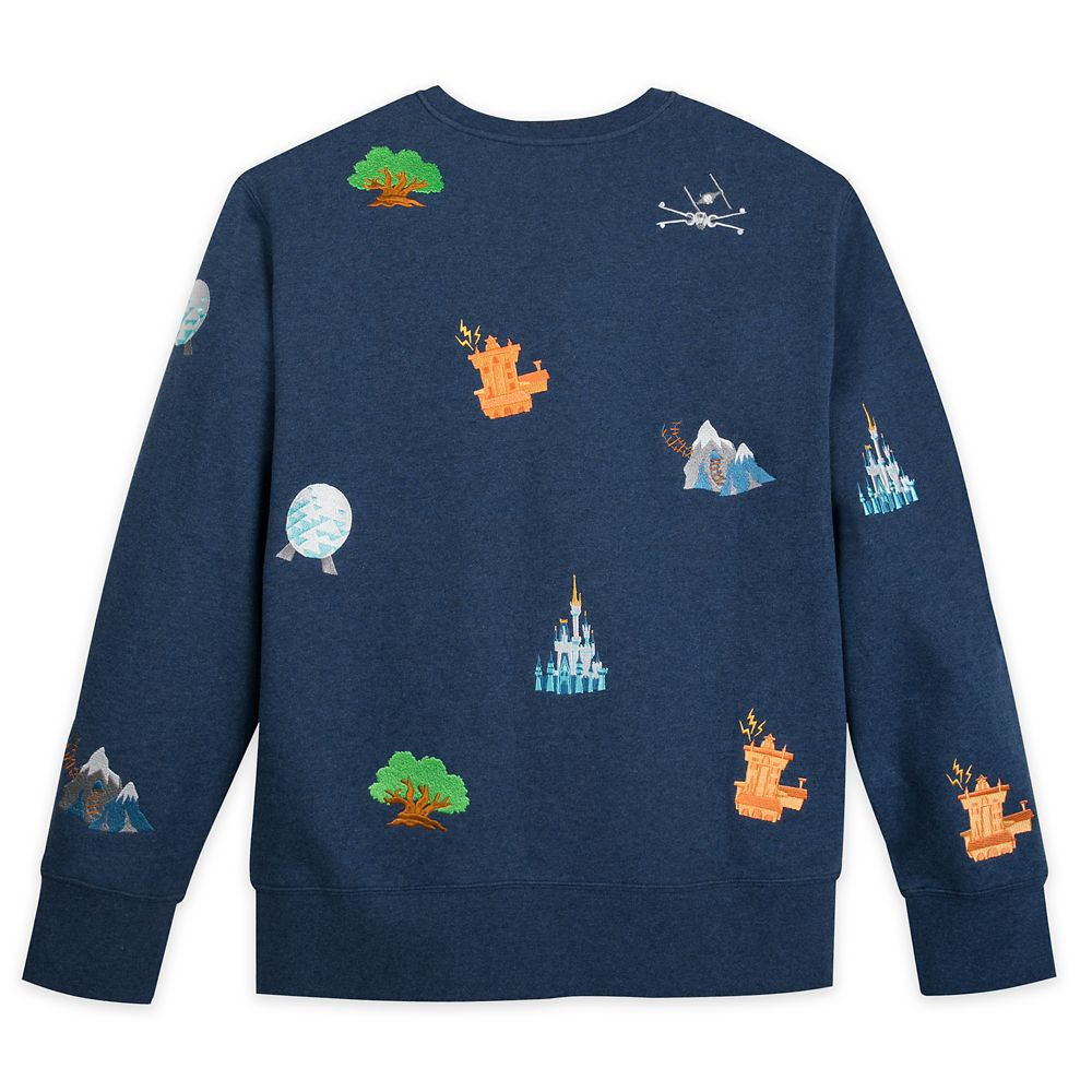 Walt Disney World Embroidered Icons Sweatshirt for Men