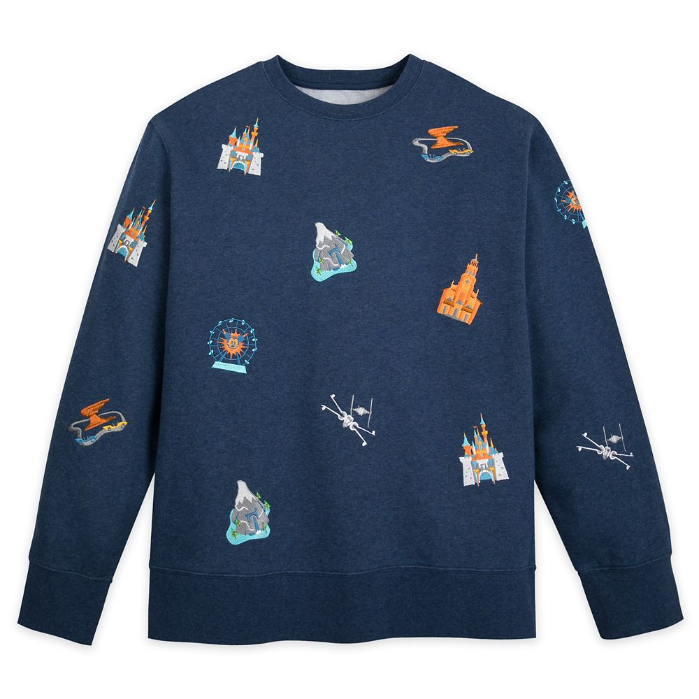 Disneyland Embroidered Icons Sweatshirt for Men