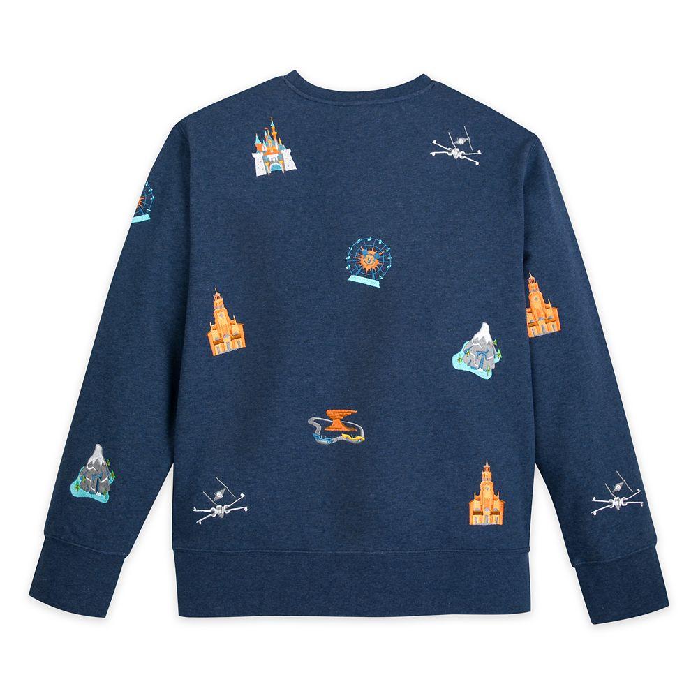 Disneyland Embroidered Icons Sweatshirt for Men