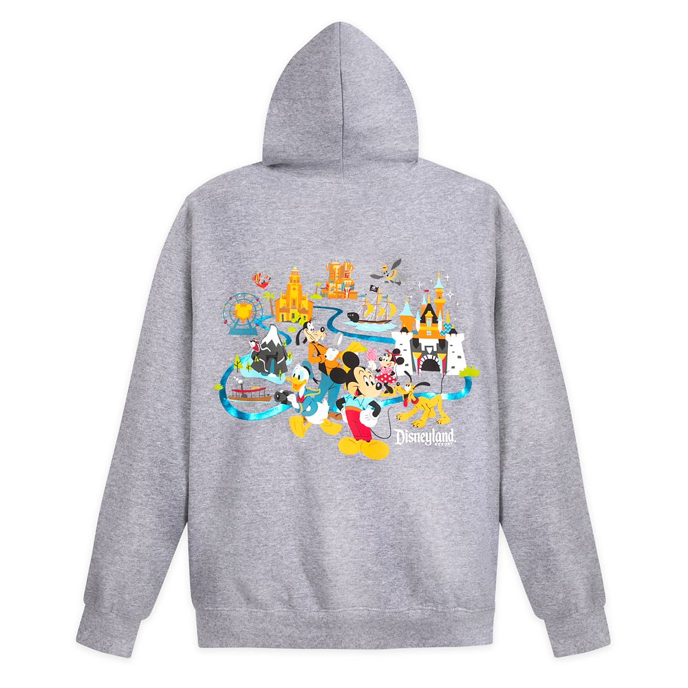 Mickey Mouse and Friends Zip-Up Hoodie for Adults – Disneyland
