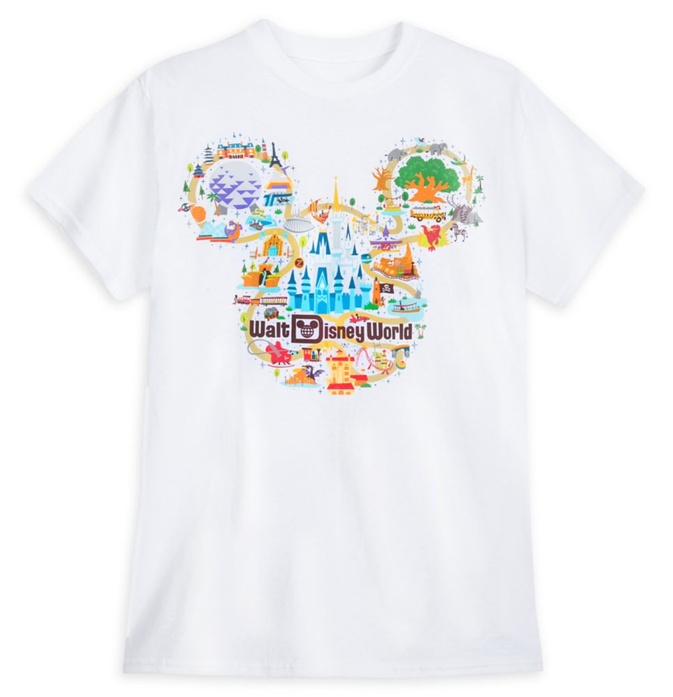 Walt Disney World Map T-Shirt for Adults – Park Life