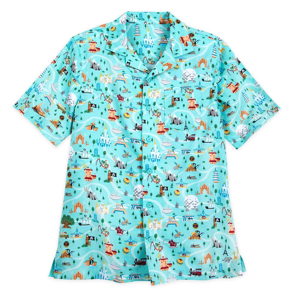 Disney Park Life Woven Shirt for Men – Walt Disney World