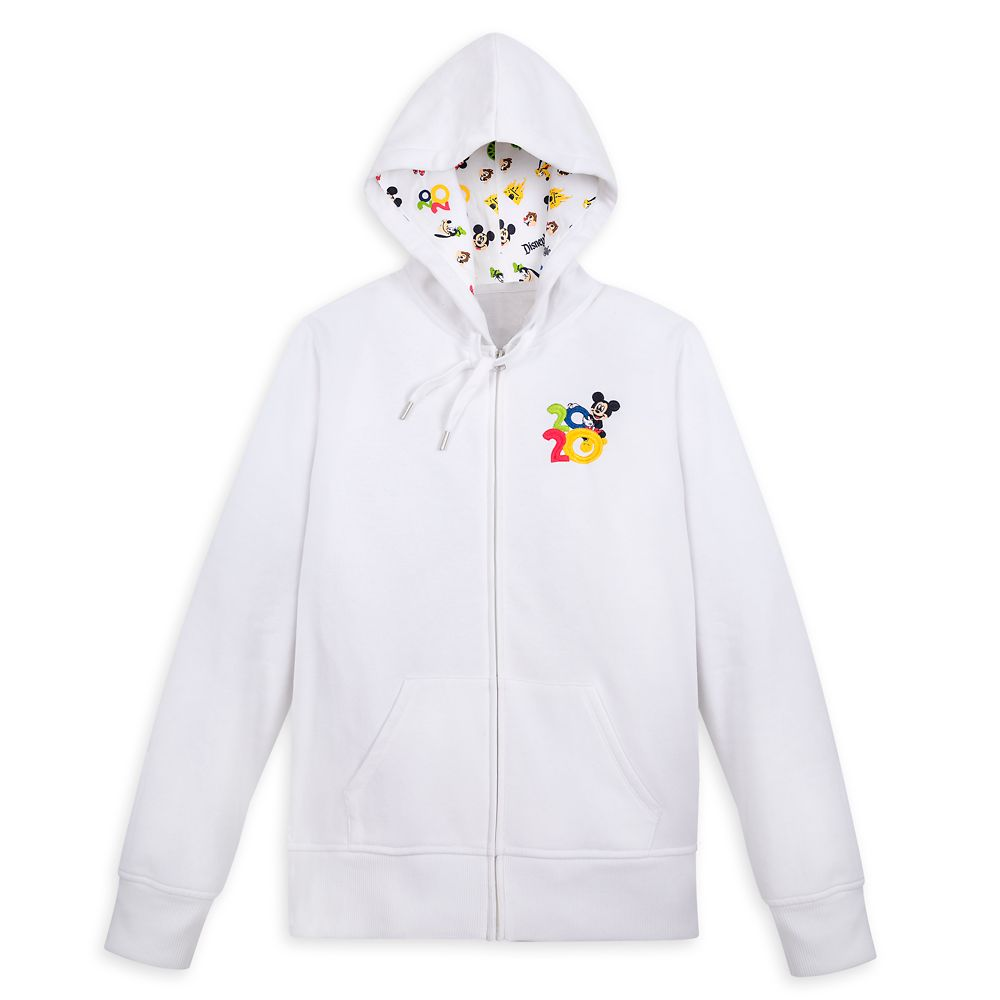 Mickey Mouse and Friends Zip-Up Hoodie for Women – Disneyland 2020