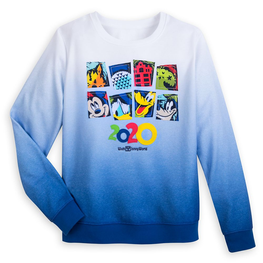 Mickey Mouse and Friends Ombre Pullover Sweatshirt for Women – Walt Disney World 2020
