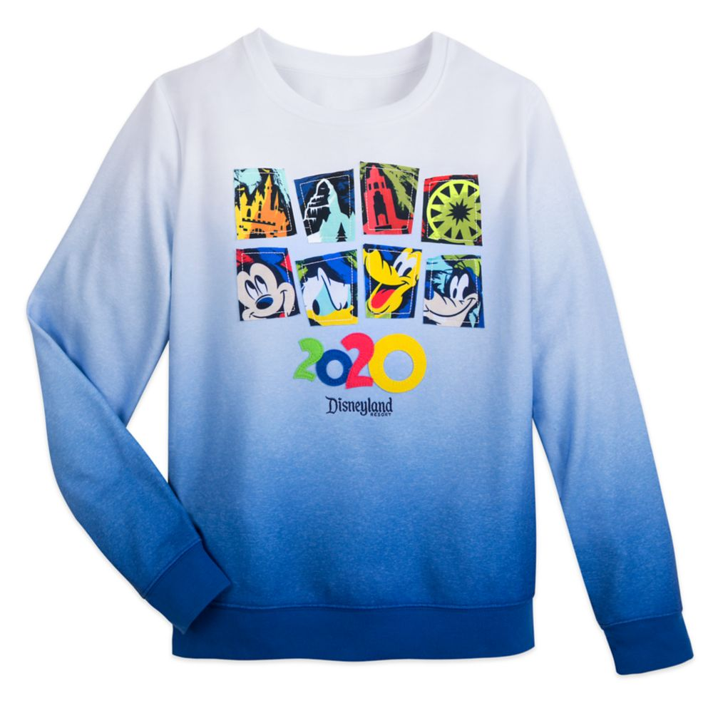 Mickey Mouse and Friends Ombre Pullover Sweatshirt for Women – Disneyland 2020