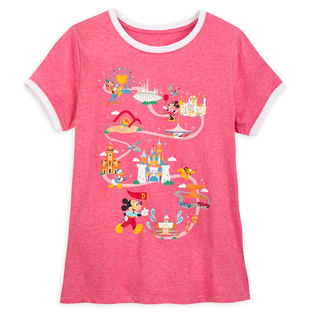 Mickey Mouse and Friends Ringer T-Shirt for Women – Disneyland