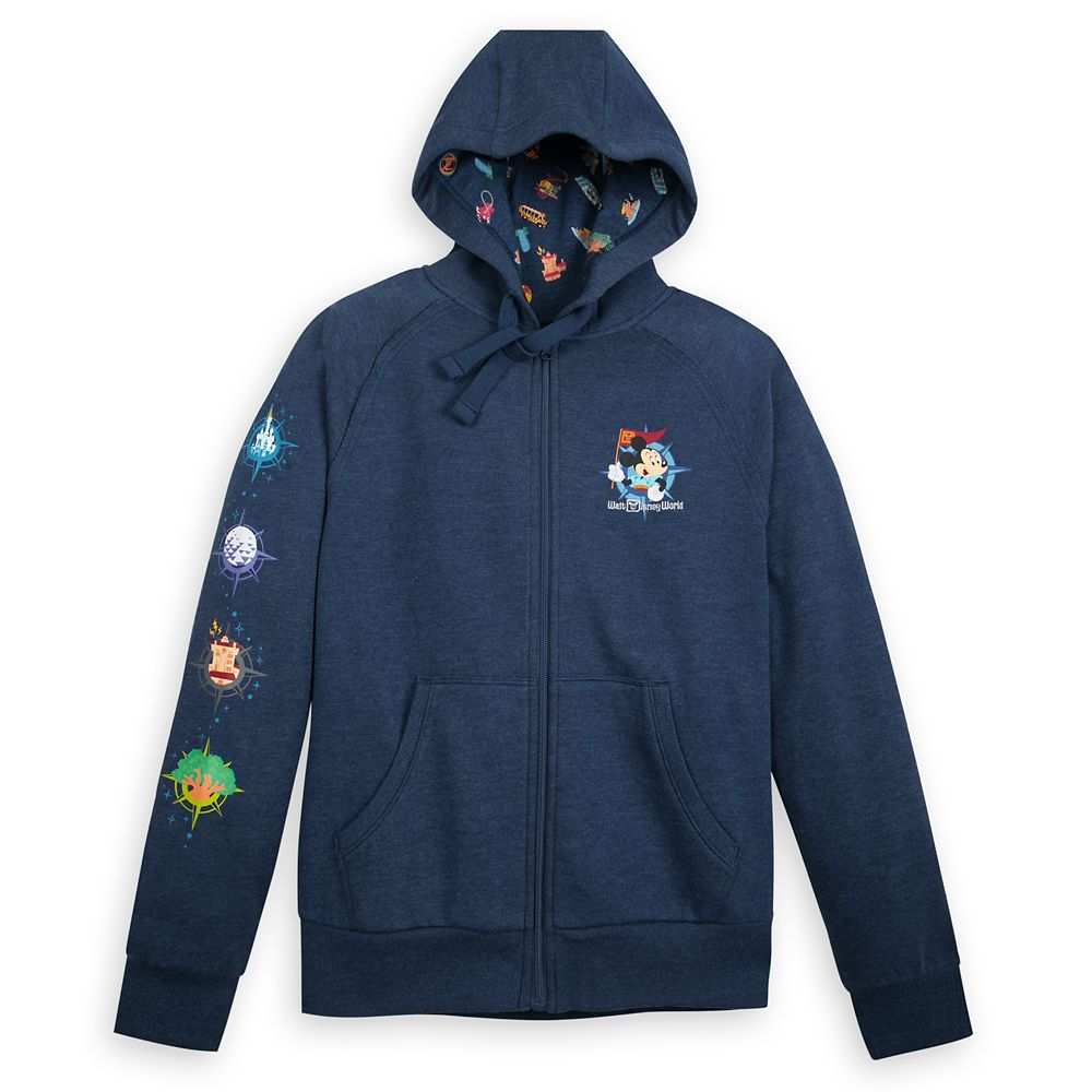Mickey Mouse Map Zip-Up Hoodie for Women – Walt Disney World