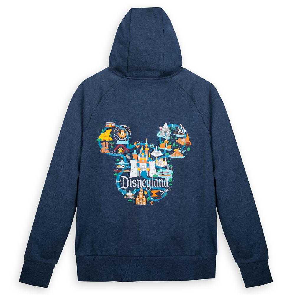 Mickey Mouse Map Zip-Up Hoodie for Women – Disneyland