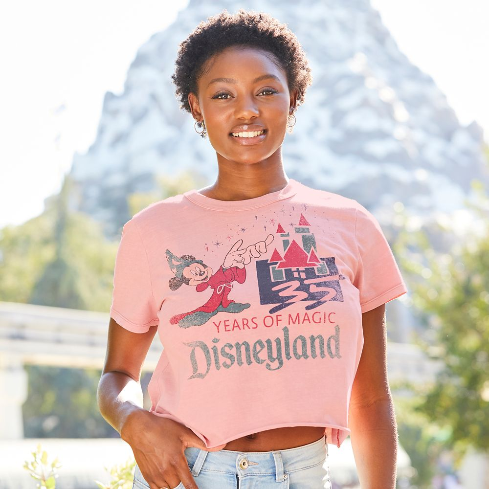 Mickey Mouse Disneyland 35th Anniversary Retro Souvenir T-Shirt for Women