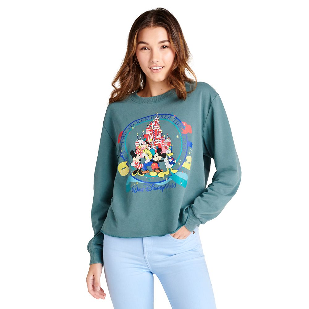 Mickey Mouse and Friends Walt Disney World 25th Anniversary Long Sleeve Top for Women