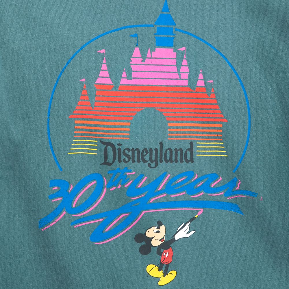 Disneyland 30th Anniversary Logo Retro Sweatshirt for Women