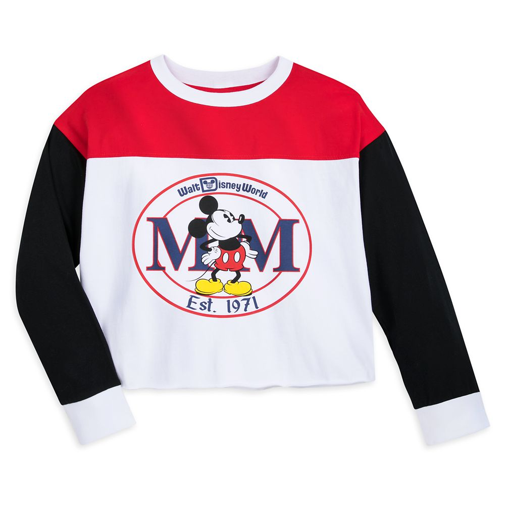 Mickey Mouse Long Sleeve Cropped T-Shirt for Women – Walt Disney World