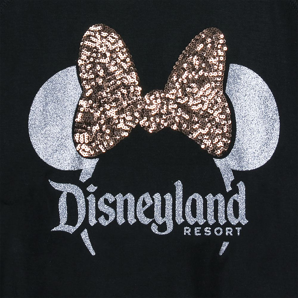 Minnie Mouse Bow Sequined T-Shirt for Women – Disneyland – Belle Bronze