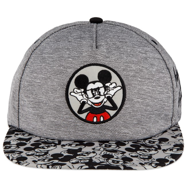 Mickey Mouse in Glasses Baseball Cap for Adults