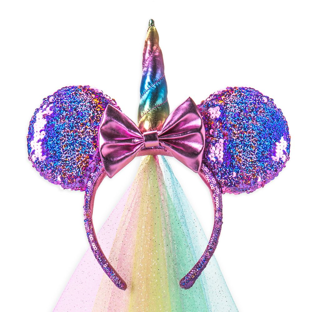 Minnie Mouse Unicorn Sequined Ear Headband