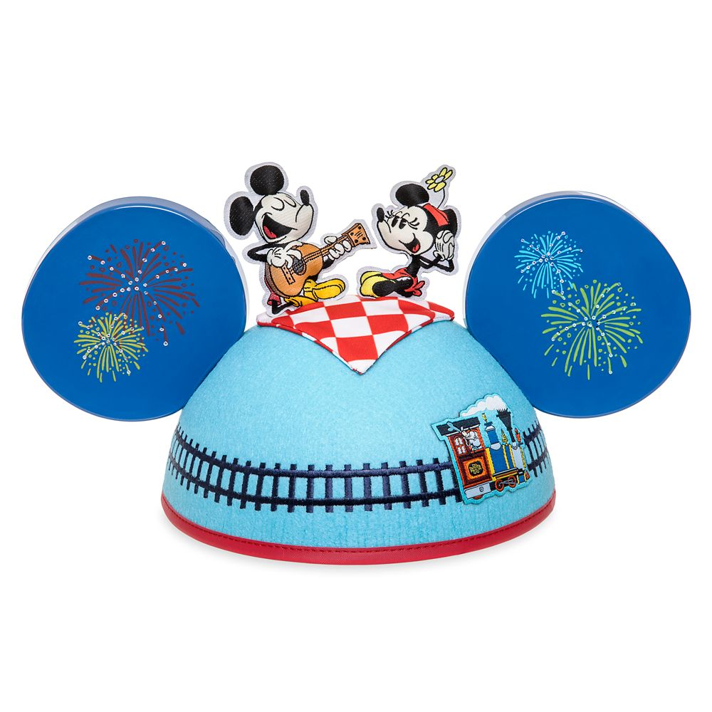 Mickey & Minnie's Runaway Railway Ear Hat for Adults by Kevin Rafferty – Limited Release