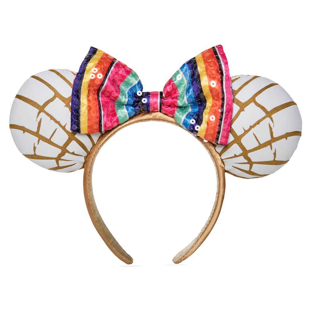 Minnie Mouse Pan Dulce Ear Headband with Sequined Bow – Mexico – Epcot World Showcase
