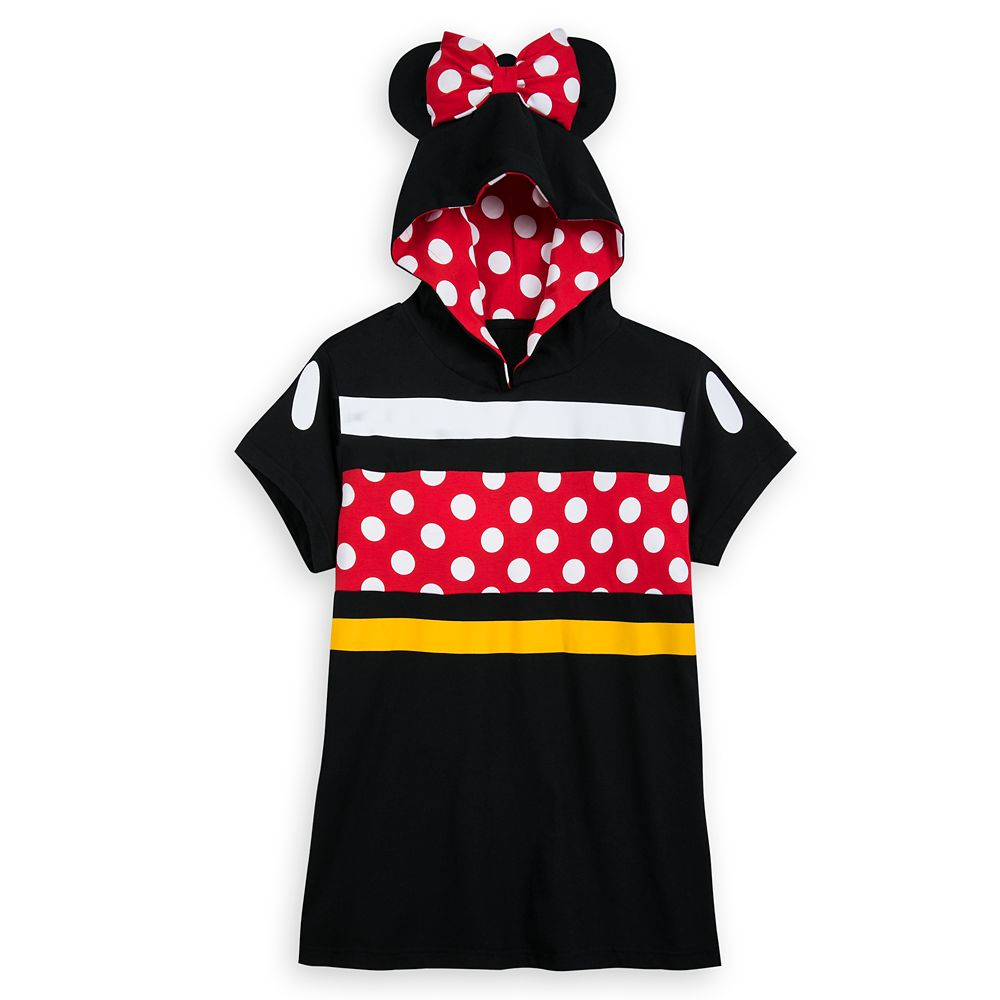 Minnie Mouse Hooded Short Sleeve Pullover Top for Women
