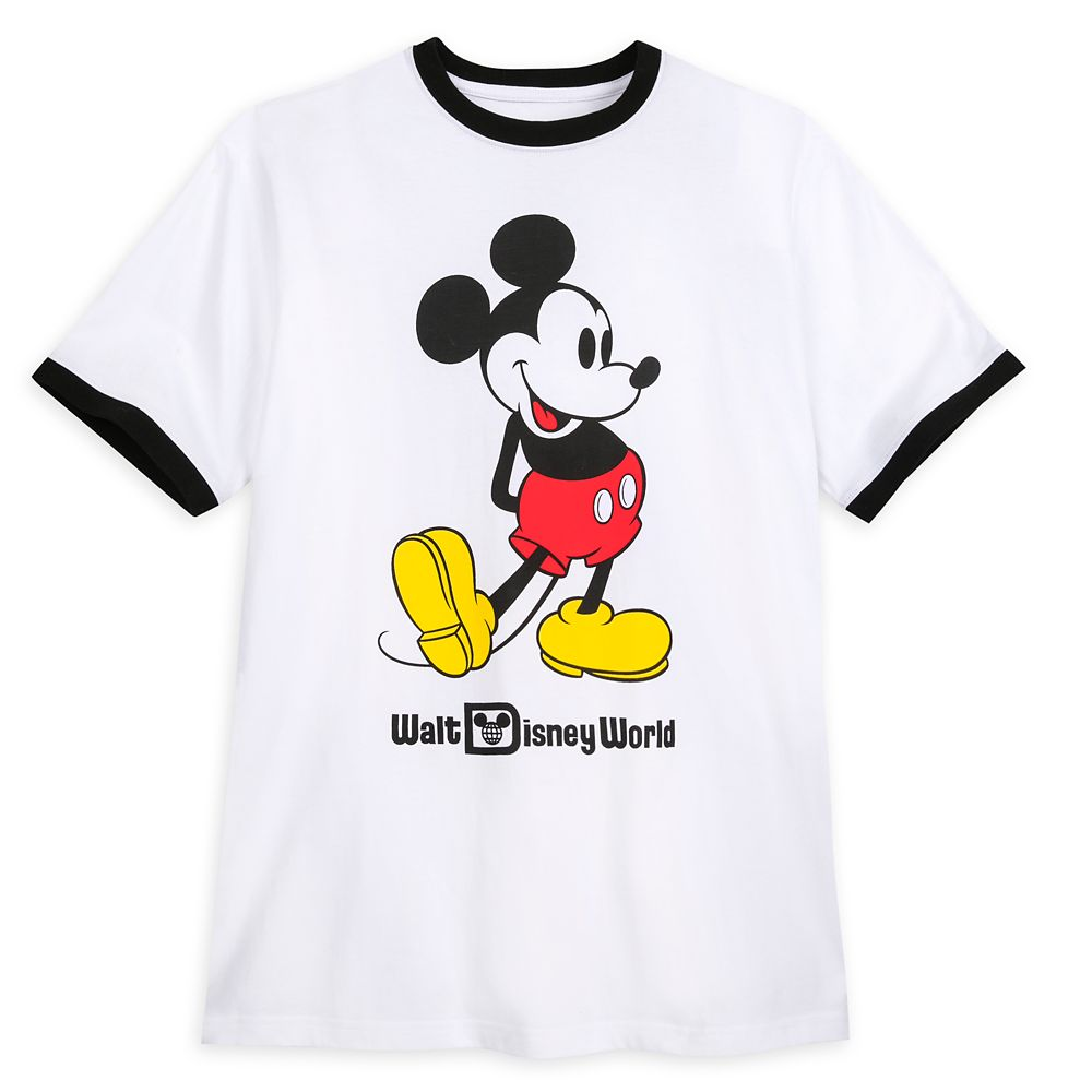 Mickey Mouse Classic Ringer T-Shirt for Adults – Walt Disney World – White