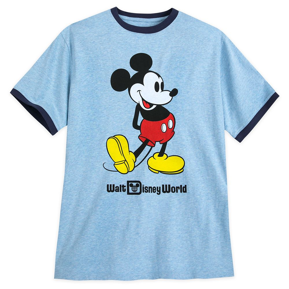 Mickey Mouse Ringer T-Shirt for Men – Walt Disney World – Blue