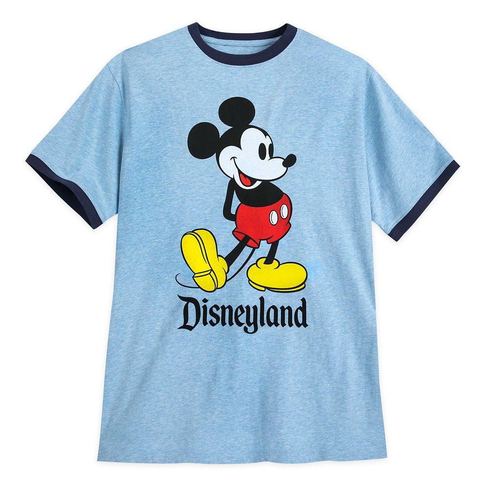 Mickey Mouse Ringer T-Shirt for Men – Disneyland – Blue