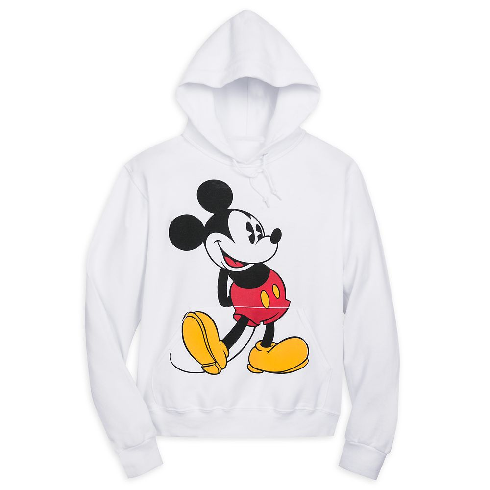Mickey Mouse Classic Pullover Hoodie for Adults – White