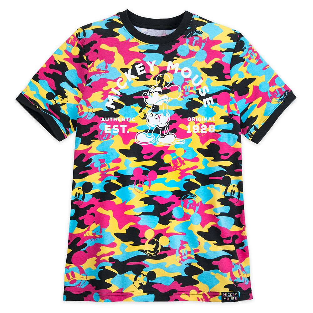 Mickey Mouse Camouflage Ringer T-Shirt for Men