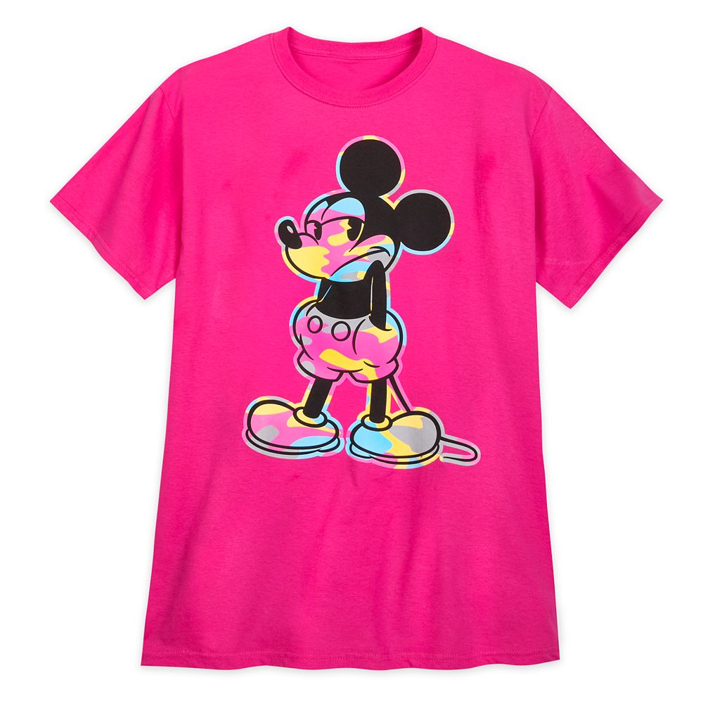 Mickey Mouse Camouflage Pose T-Shirt for Men