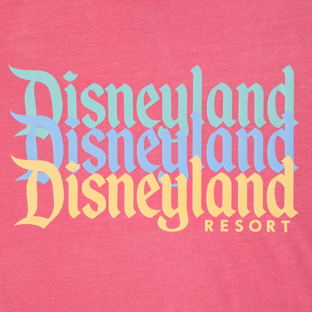 Disneyland Resort Faded Pink T-Shirt for Men