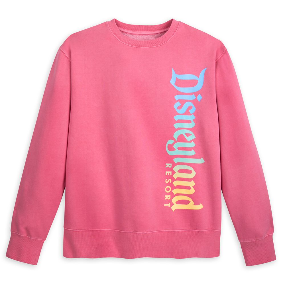 Disneyland Resort Faded Pink Sweatshirt for Adults