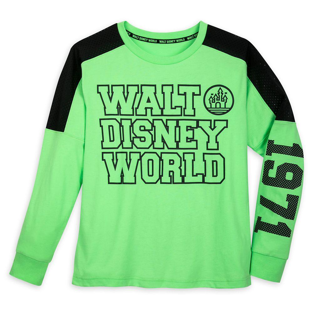 Walt Disney World Neon Green Pullover Top for Women