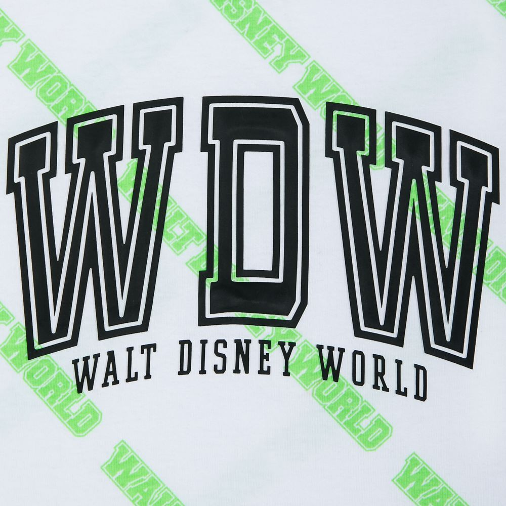 Walt Disney World White and Neon Green Tank Top for Women