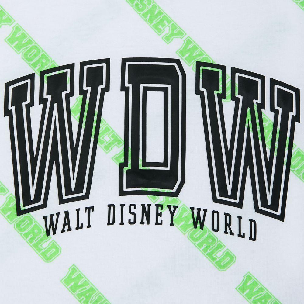 Walt Disney World White and Neon Green Tank Top for Women
