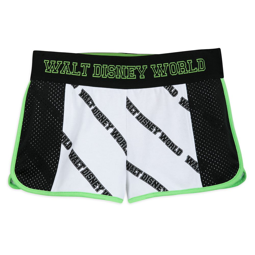 Walt Disney World White and Neon Green Shorts for Women
